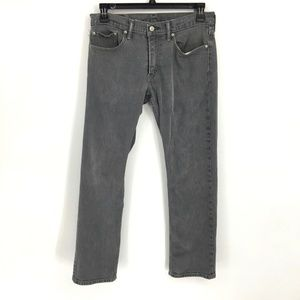 Levi's 514 Mens 32x32 Stretch Gray Straight Jeans